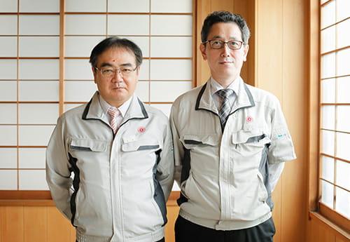 取締役 星野宣貴氏と開発部部長 小原一洋氏
